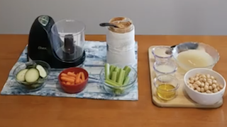 Verduras con Hummus